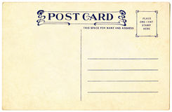 Postcard - 1911. Postcard from 1911, Art Nouveau Style royalty free stock images