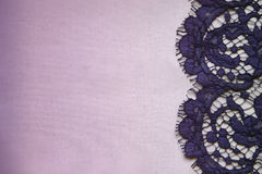 Postcard. Lace on the fabric stock photography