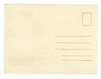 Postcard. Vintage postcard isolated on white background Stock Photos