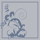 Postcard with abstract blue flowers. Vector postcard with abstract blue flowers Stock Photos