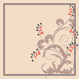 Postcard with abstract flowers. Vector postcard with abstract flowers Royalty Free Stock Photo