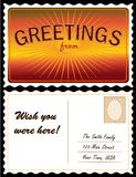 Postcard, Add location Royalty Free Stock Images