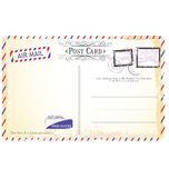 Postcard in air mail style vector illustration