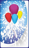Postcard balloons Royalty Free Stock Image