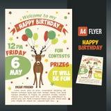 Postcard birthday Royalty Free Stock Photography