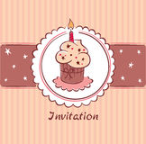 Postcard - Birthday Invitation Royalty Free Stock Photography