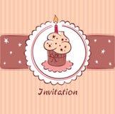 Postcard - Birthday Invitation Royalty Free Stock Photography