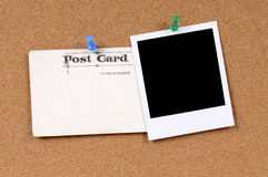 Postcard with blank photo Royalty Free Stock Photo