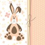 Postcard with bunny stock photo