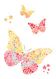 Postcard butterflies Stock Photography