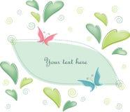 Postcard Butterflies Royalty Free Stock Image