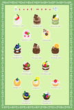 The postcard of cakes Stock Image