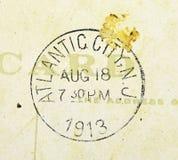 Atlantic City New Jersey Postmark 1913 stock illustration