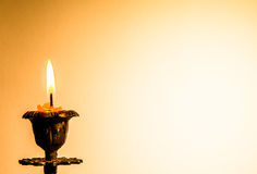 Postcard with candle. Stock Images