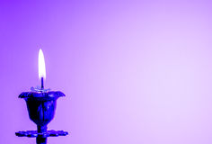 Postcard with candle. Royalty Free Stock Images