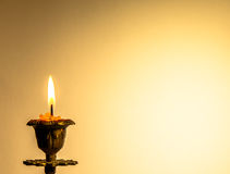 Postcard with candle. Stock Image