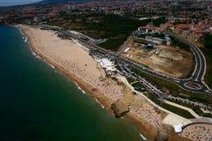 Postcard of Carcavelos sandy beach Royalty Free Stock Photography