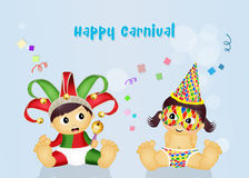 Postcard for Carnival Royalty Free Stock Photography