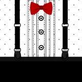 postcard cavalheiro Smoking das crianças s Para meninos ilustração do vetor