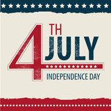 POSTCARD IN CELEBRATION OF INDEPENDENCE DAY IN THE royalty free illustration