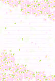 Postcard of cherry blossoms Royalty Free Stock Photo