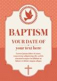 Postcard Christian baptism. Invitation congratulation certificate royalty free illustration