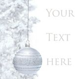 Postcard with Christmas bauble Stock Photos