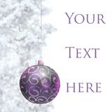 Postcard with Christmas bauble Royalty Free Stock Photos