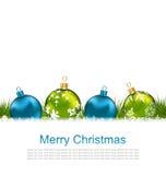 Postcard with Christmas Colorful Balls  Royalty Free Stock Image