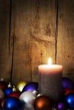 Postcard christmas decoration with balls Stock Photography