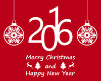 Postcard with Christmas and New Year Royalty Free Stock Images
