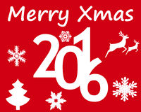 Postcard with Christmas and New Year Royalty Free Stock Photos