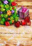 Postcard with Christmas paraphernalia with place for your text Royalty Free Stock Images
