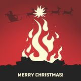 Postcard for Christmas. Vector format Royalty Free Stock Photography