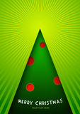 Postcard with Christmas tree. Royalty Free Stock Photo