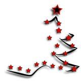 Postcard Christmas Tree Stock Images