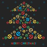 Postcard for Christmas. Vector format Stock Photography