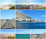 Postcard of city Alicante, Spain Stock Photography