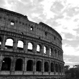 Postcard from Coliseum - black and white Royalty Free Stock Photo