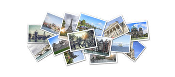 Postcard collage from Europe. The main attractions Royalty Free Stock Images