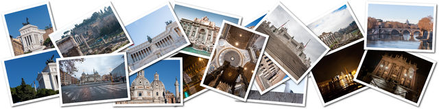 Postcard collage from Rome, Italy Stock Image