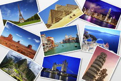 Postcard collection Royalty Free Stock Photos