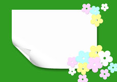 Postcard  with flowers paper Royalty Free Stock Images