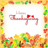 Postcard for congratulations with happy Thanksgiving Royalty Free Stock Photos