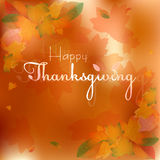 Postcard for congratulations with happy Thanksgiving Stock Image