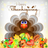 Postcard for congratulations with happy Thanksgiving Royalty Free Stock Image