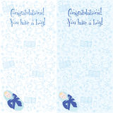 Postcard. Congratulations! You have a boy Royalty Free Stock Photo