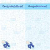 Postcard. Congratulations! You have a boy Royalty Free Stock Photos