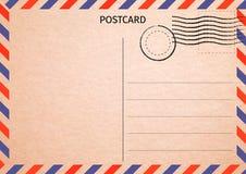 postcard Correio aéreo Ilustração do cartão postal para seu projeto Tr ilustração do vetor