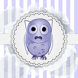 Postcard with cute owl Royalty Free Stock Photo